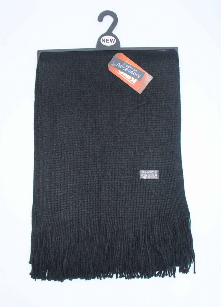 Mens knitted scarf winter scarf (HT8-SCR570017)